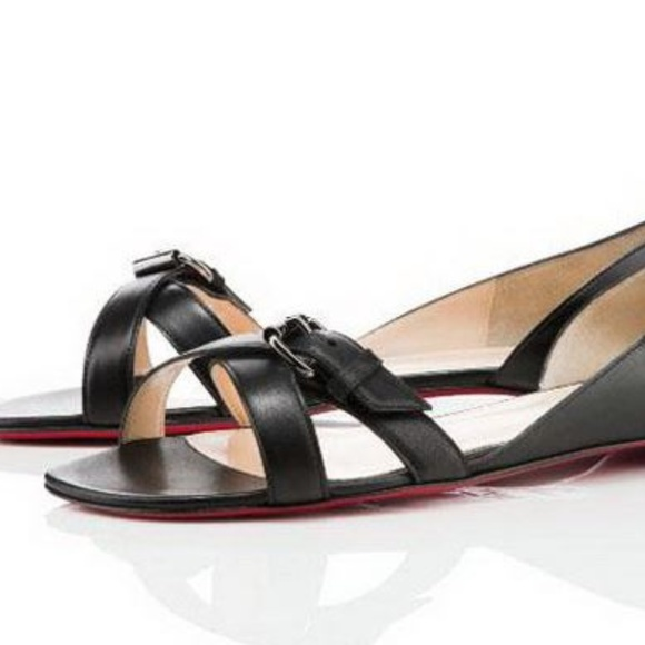 info for eb7e2 a5ef0 Christian Louboutin Atalanta Flats Sandals Black
